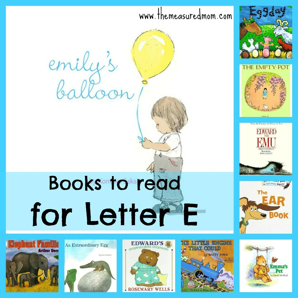 books to read for letter e the measured mom