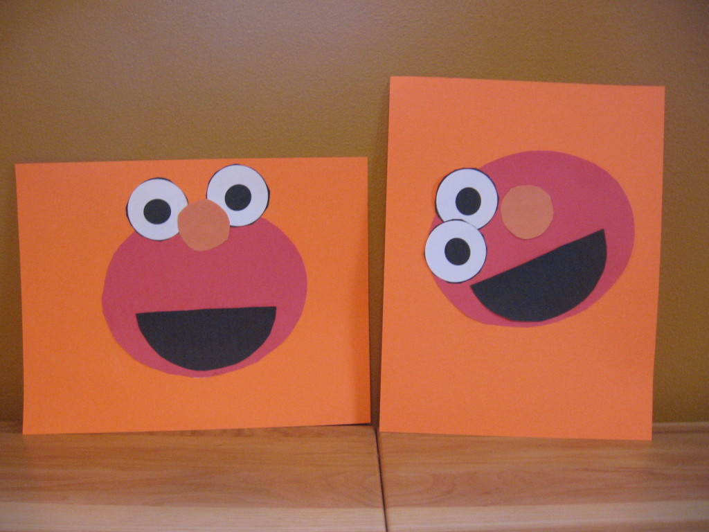 Elmo craft 1024x768 Letter E craft ideas