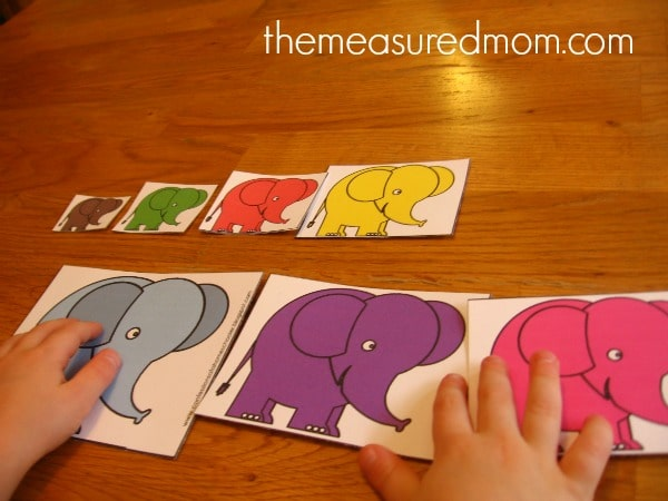 Letter E Math 1 the measured mom Math Activities for Preschoolers   the letter E