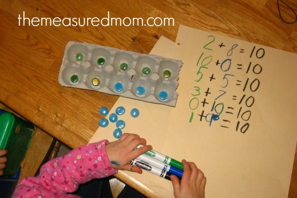 Letter E Math 5 the measured mom Math Activities for Preschoolers   the letter E