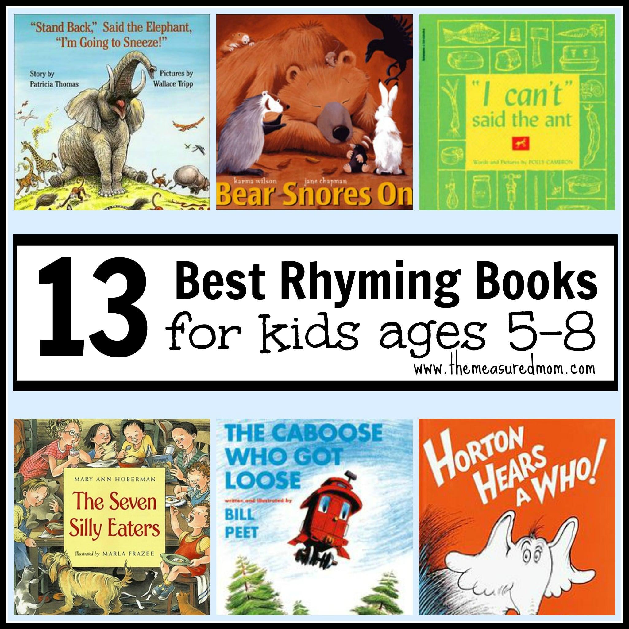 Worksheet Rhyme Words For Kindergarten best rhyming books for kids ages 5 8 the measured mom