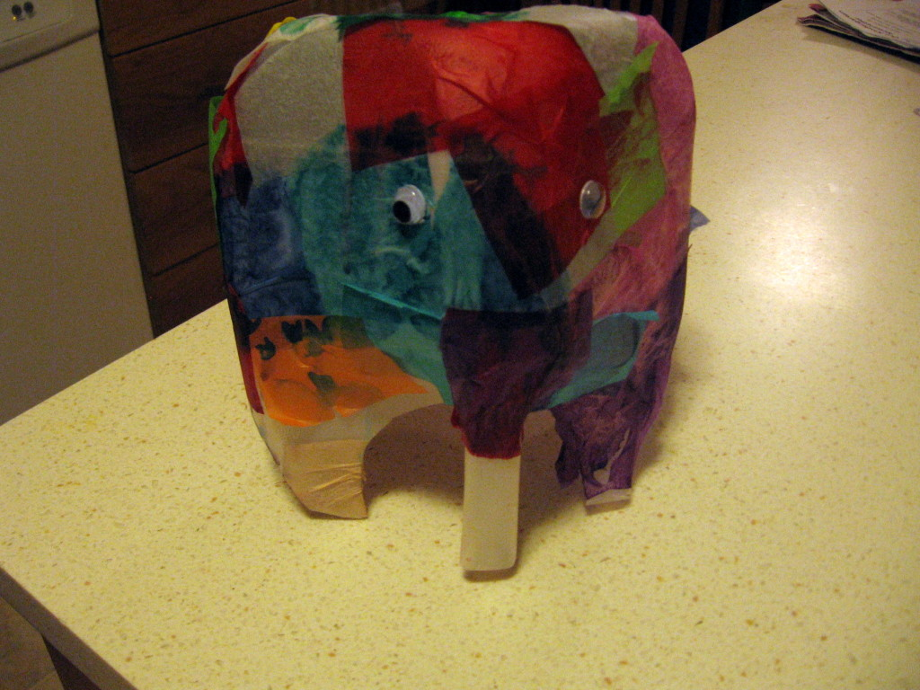 elmer elephant 1024x768 Letter E craft ideas