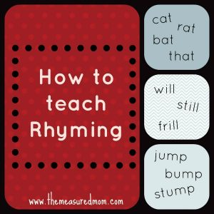 how to teach rhyming - the measured mom