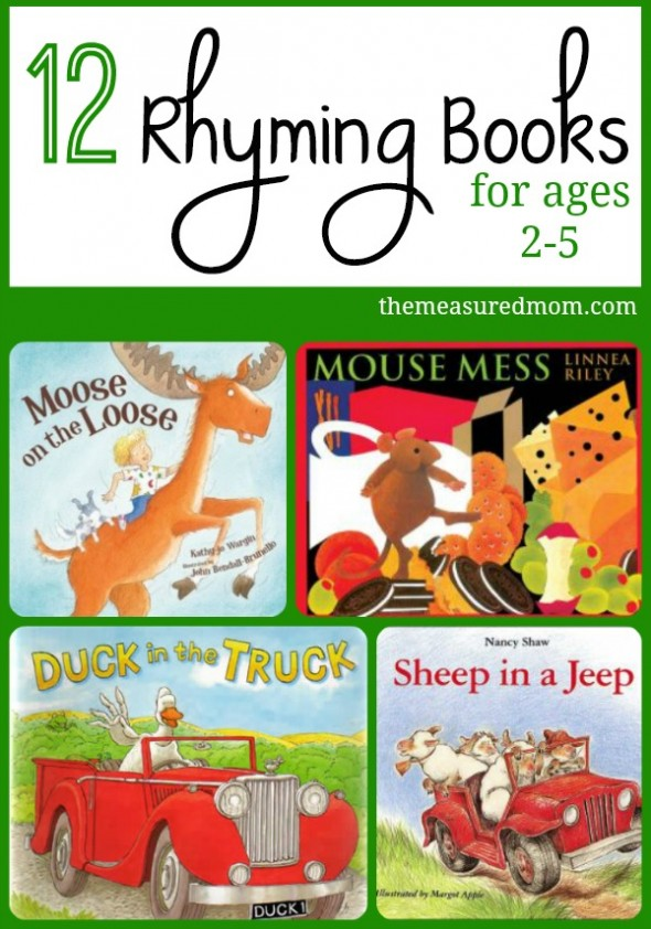 rhyming books for toddlers preschoolers the measured mom