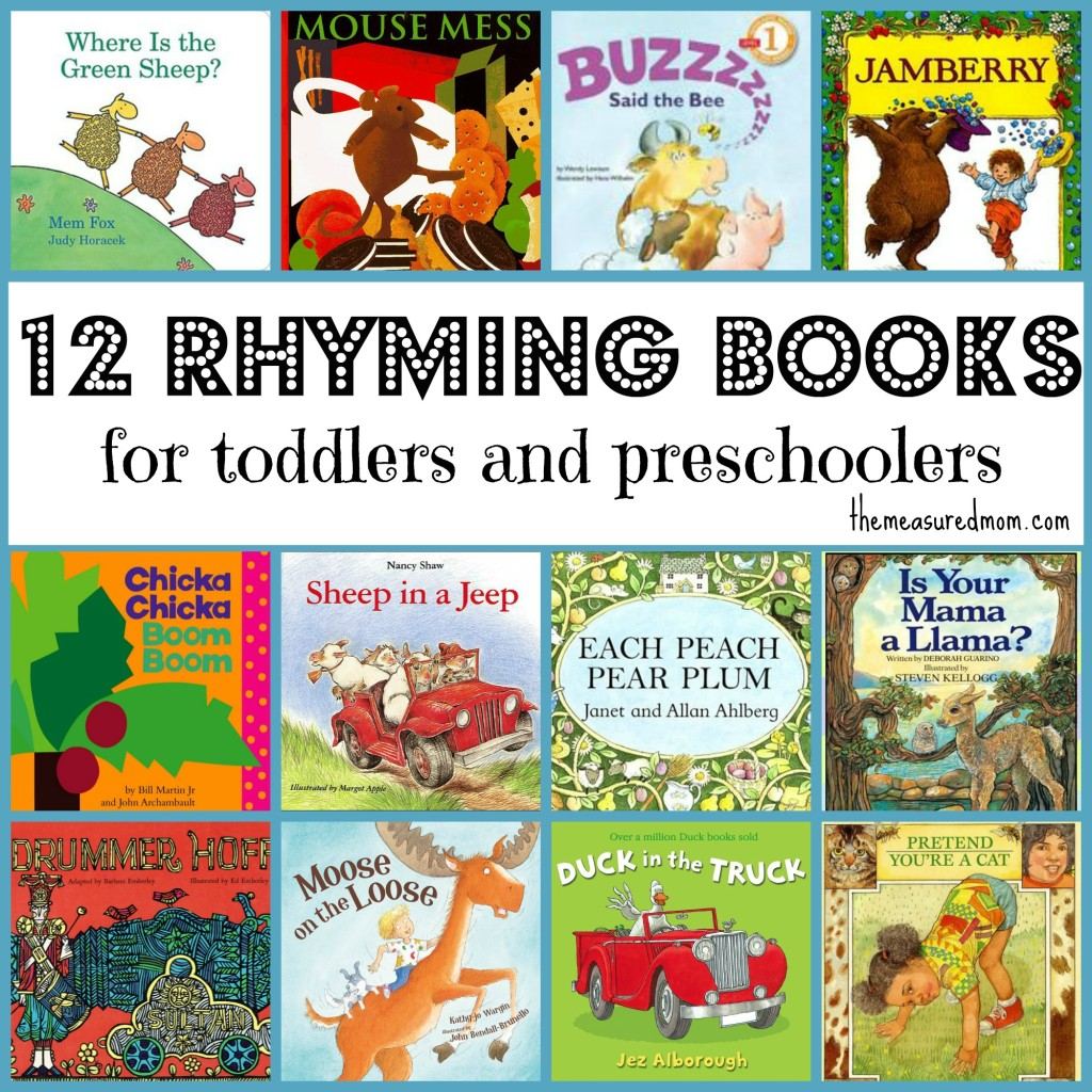 rhyming books for toddlers and preschoolers the measured mom 1024x1024 Rhyming Books for Toddlers & Preschoolers
