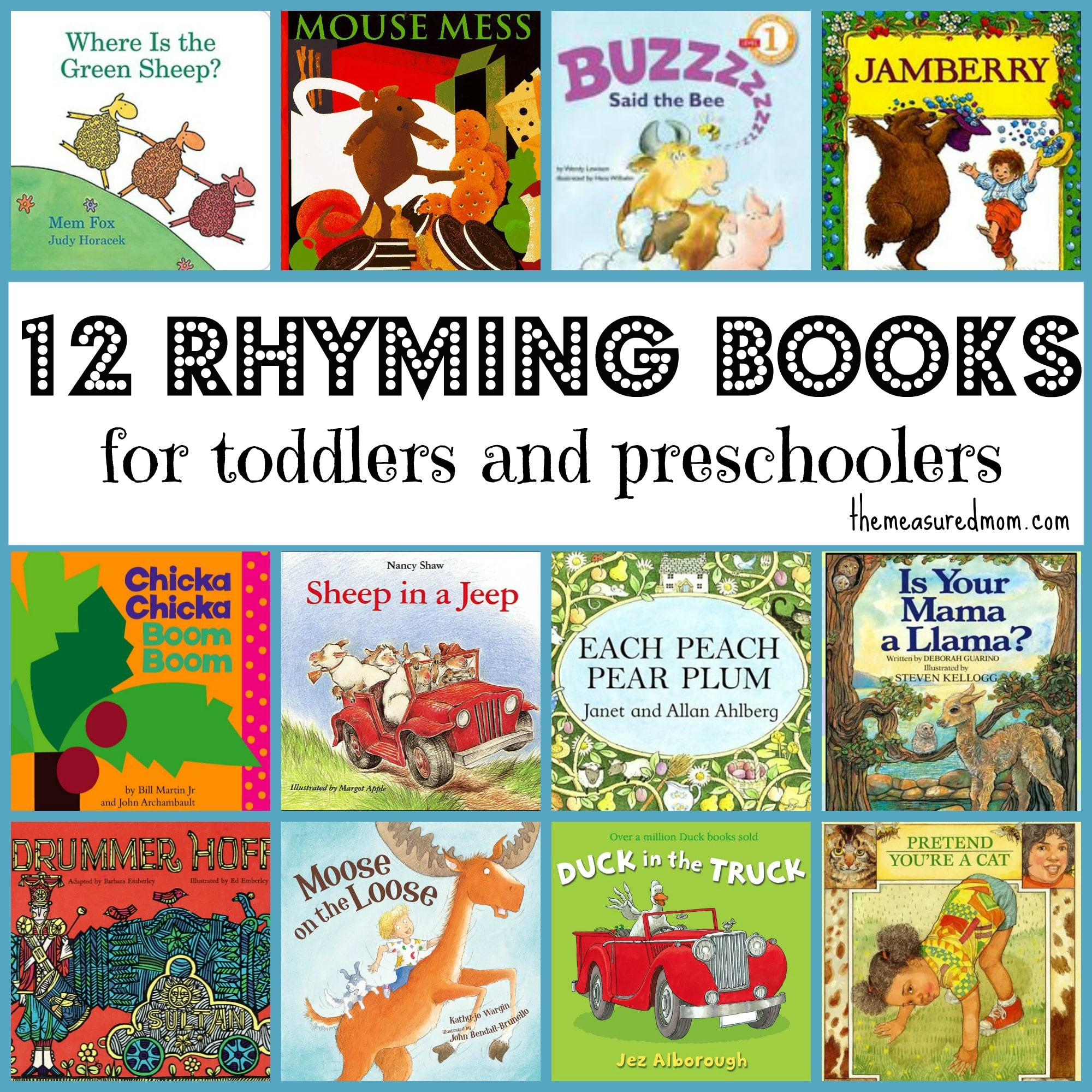 books preschool rhyming books for toddlers amp preschoolers the measured 502