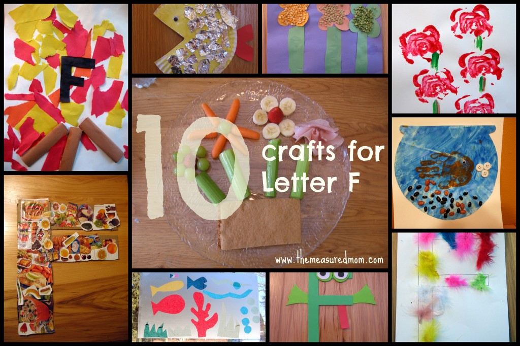 F craft collage 1024x682 Letter F Crafts