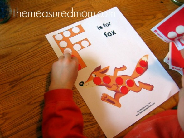F is for fox - the measured mom