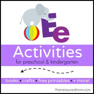 Letter E Activities the measured mom 300x300 Math Activities for Preschoolers   the letter E