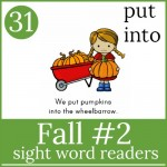 fall 2 sight word readers gallery image