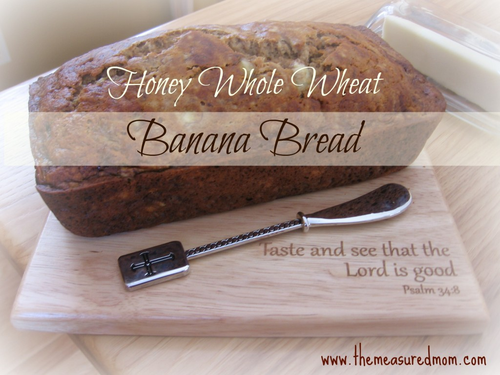 We love this healthy whole wheat banana bread! Turns out perfect every time!