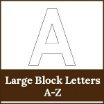 large block letters a to z1 150x150 Free Printables