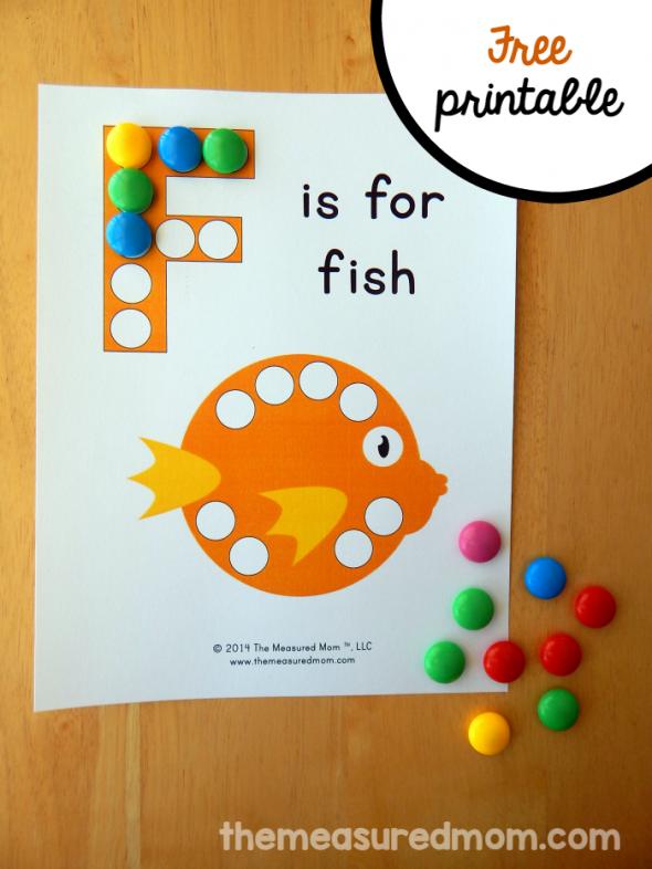 letter F dot sticker
