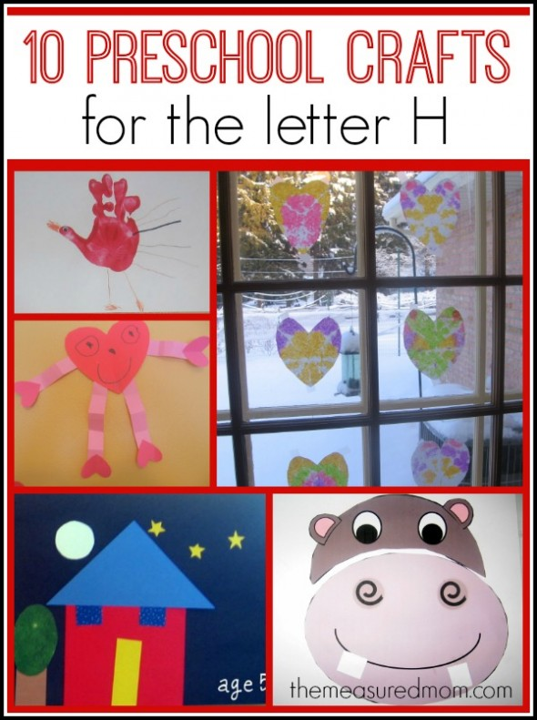 letter H crafts for preschool