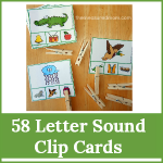letter sound clip cards gallery