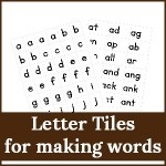 letter tiles for making words 150x150 Free Printables