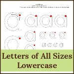 letters of all sizes lowercase 150x150 Free Printables