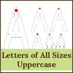 letters of all sizes uppercase 150x150 Free Printables