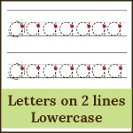 letters on 2 lines lowercase 150x150 Free Printables