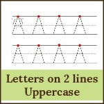 letters on 2 lines uppercase 150x150 Free Printables