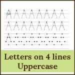 letters on 4 lines uppercase 150x150 Free Printables