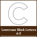 lowercase block letters a to z