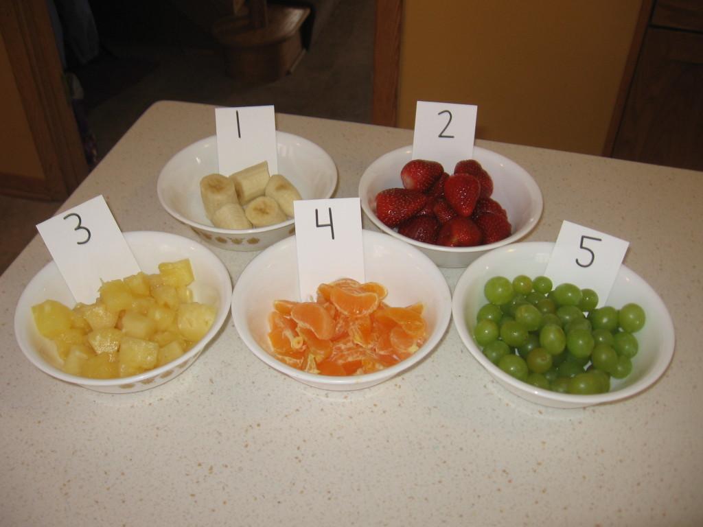 numbered fruit bowls