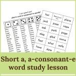 short a a consonant e lesson 150x150 Free Printables