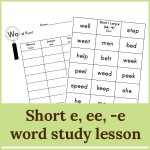 short e ee e lesson