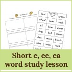 short e ee ea lesson