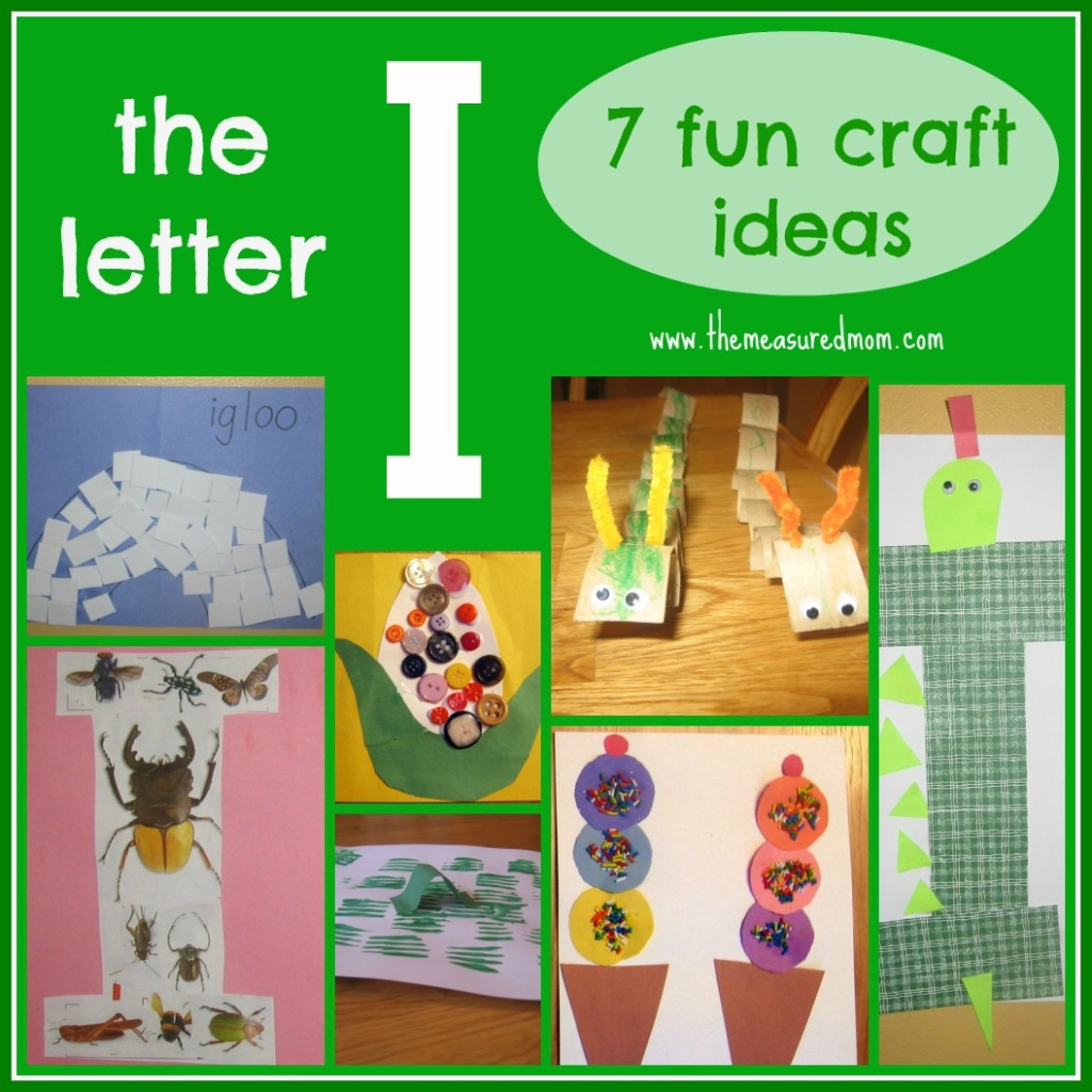 the measured mom - letter I craft ideas