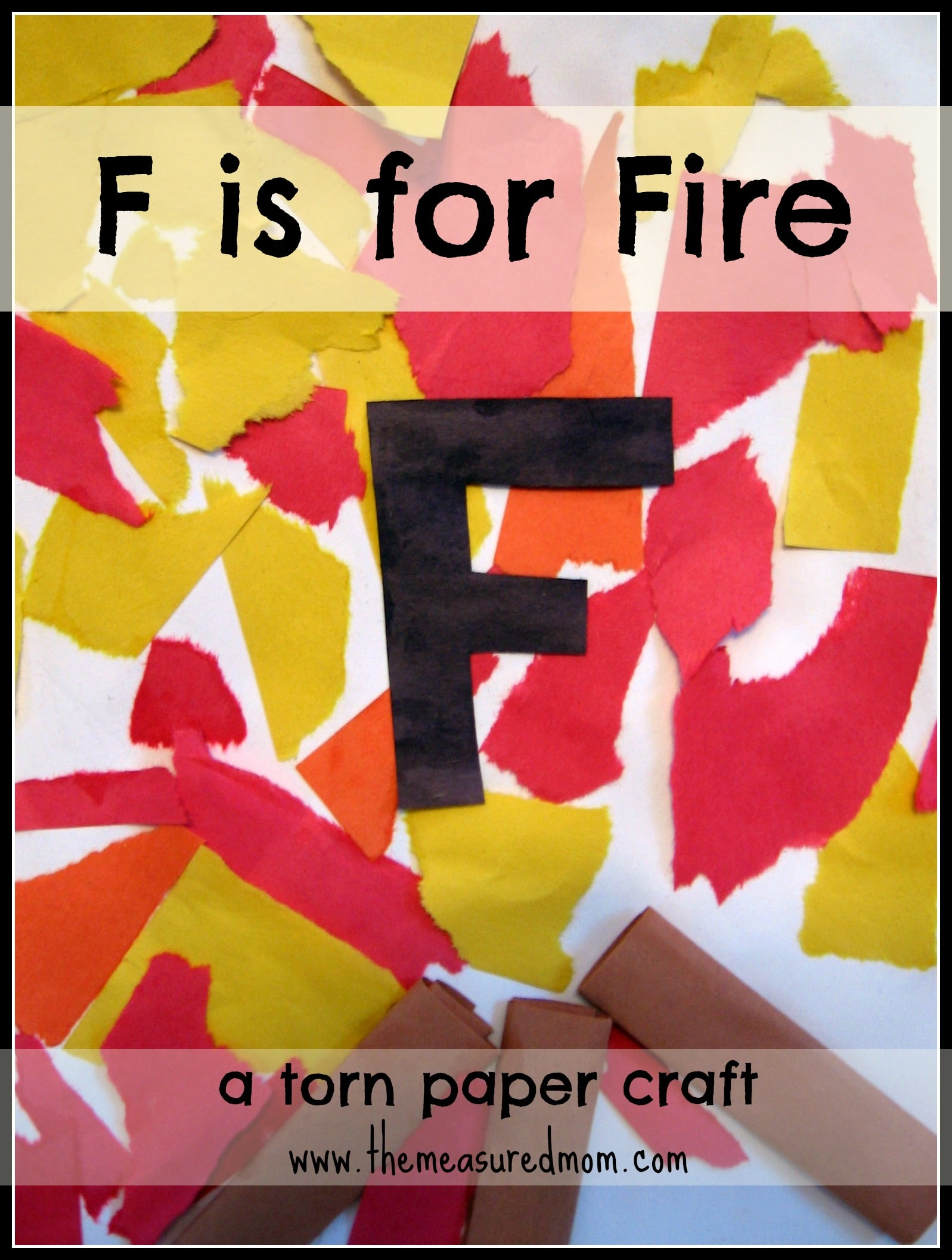 Torn paper craft for F crafts for toddlers