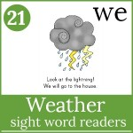 weather sight word readers 150x150 Free Printables