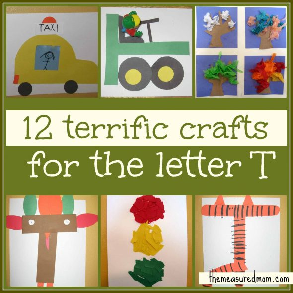 12 terrific crafts for letter T the measured mom007 590x590 Preschool Crafts for Letter T