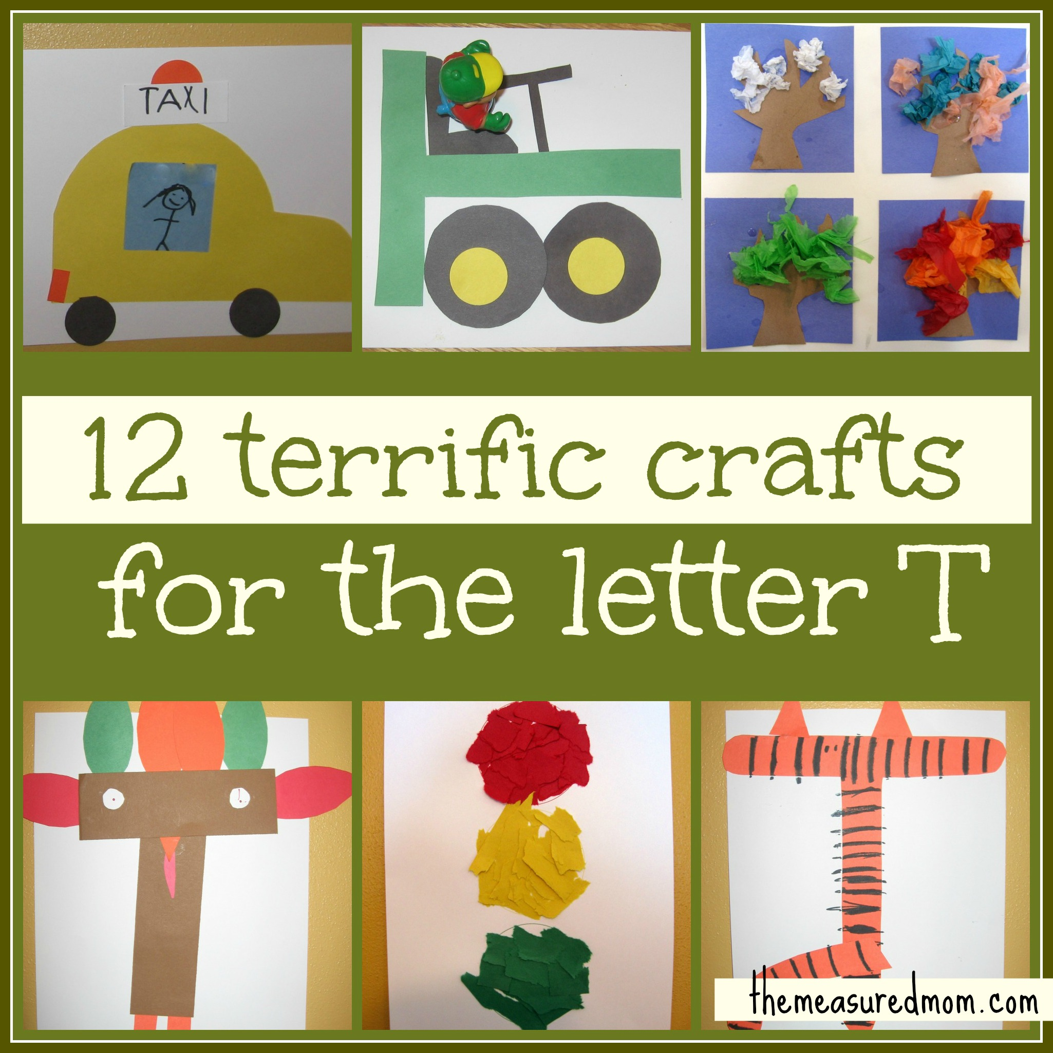 ... so many fun preschool crafts for Letter T that we made twelve of them