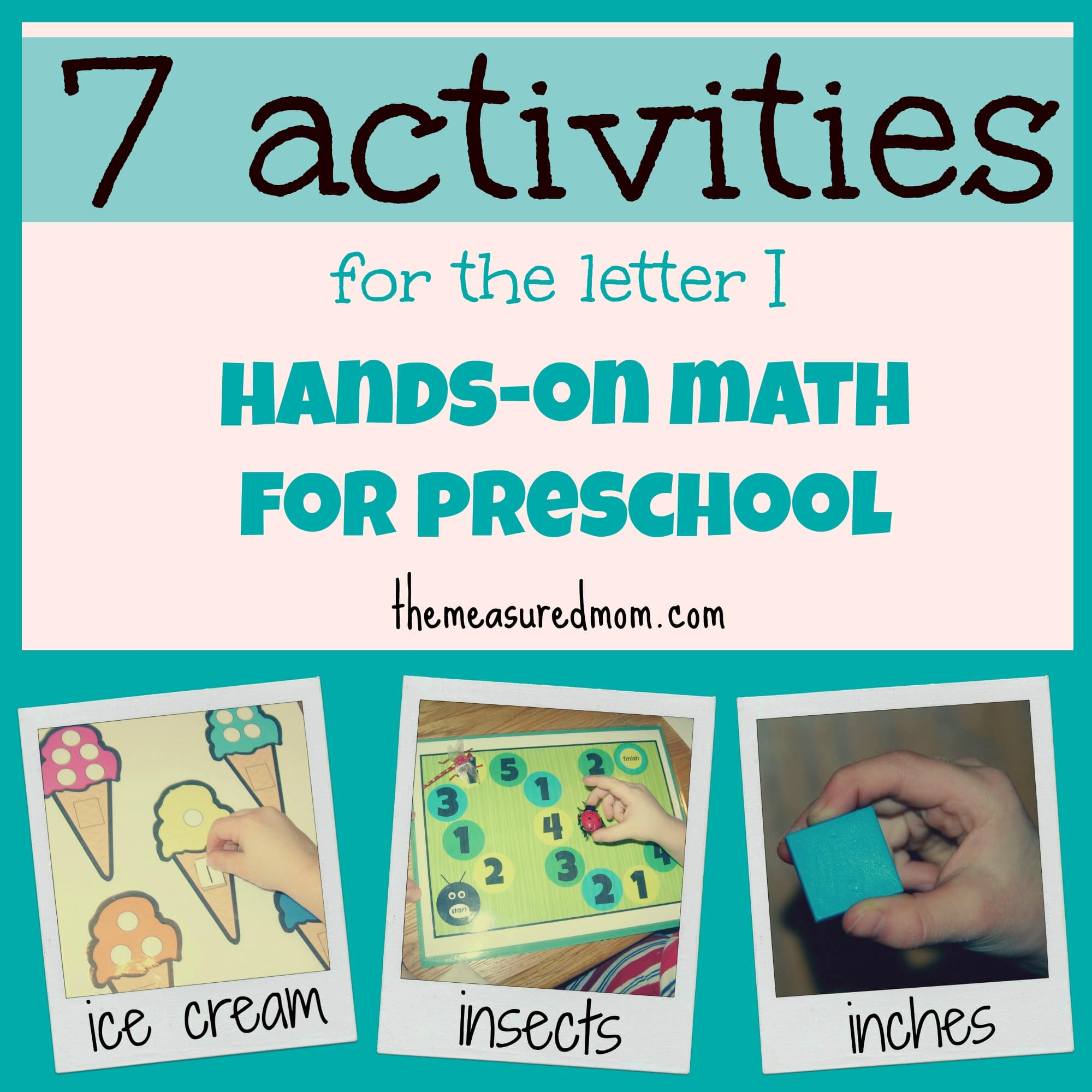 We've been doing a lot of hands-on math for preschool at home. Since ...