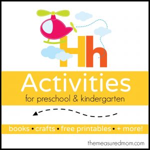 Letter H Activities - the measured mom