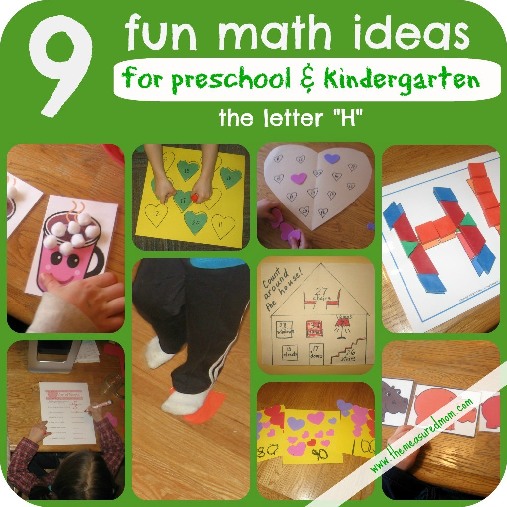 The Measured Mom - 9 Math Ideas for the letter H