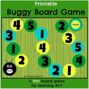 Buggy Board Game – a first board game for preschoolers