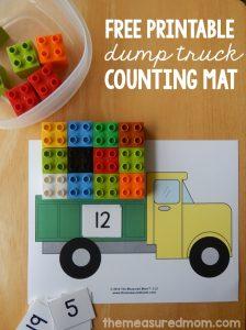 Free printable counting mat