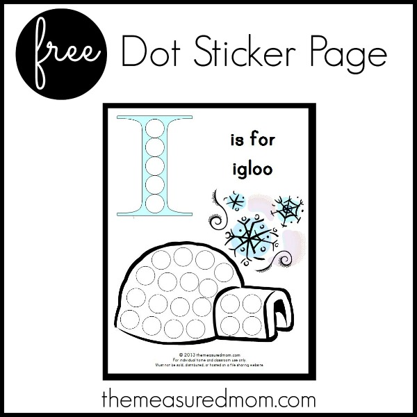 Get this free letter I printable: I is for igloo!