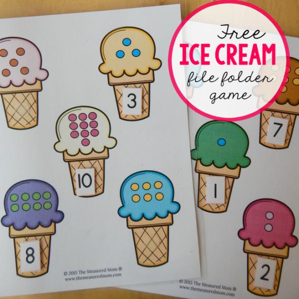ice cream file folder game square image