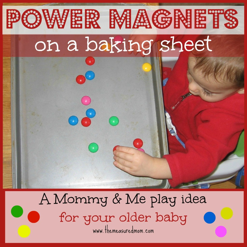 power magnets on a baking sheet - the measured mom