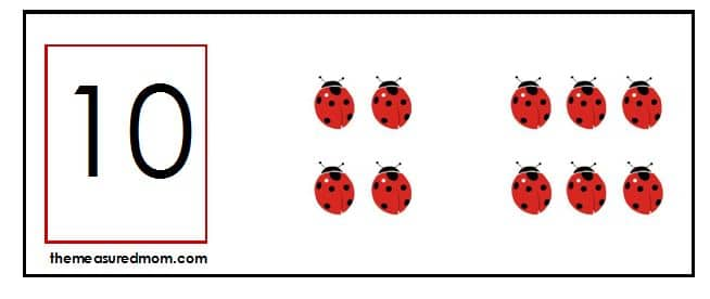 10 flip card snip Missing Addend Activity: Ladybug flip cards!