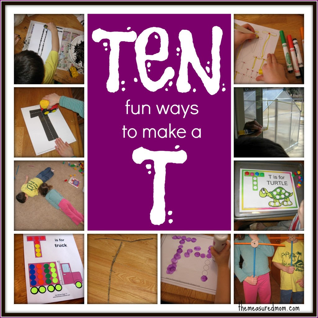10 fun ways to make T the measured mom1 1024x1024 10 ways to write the alphabet: Letter T