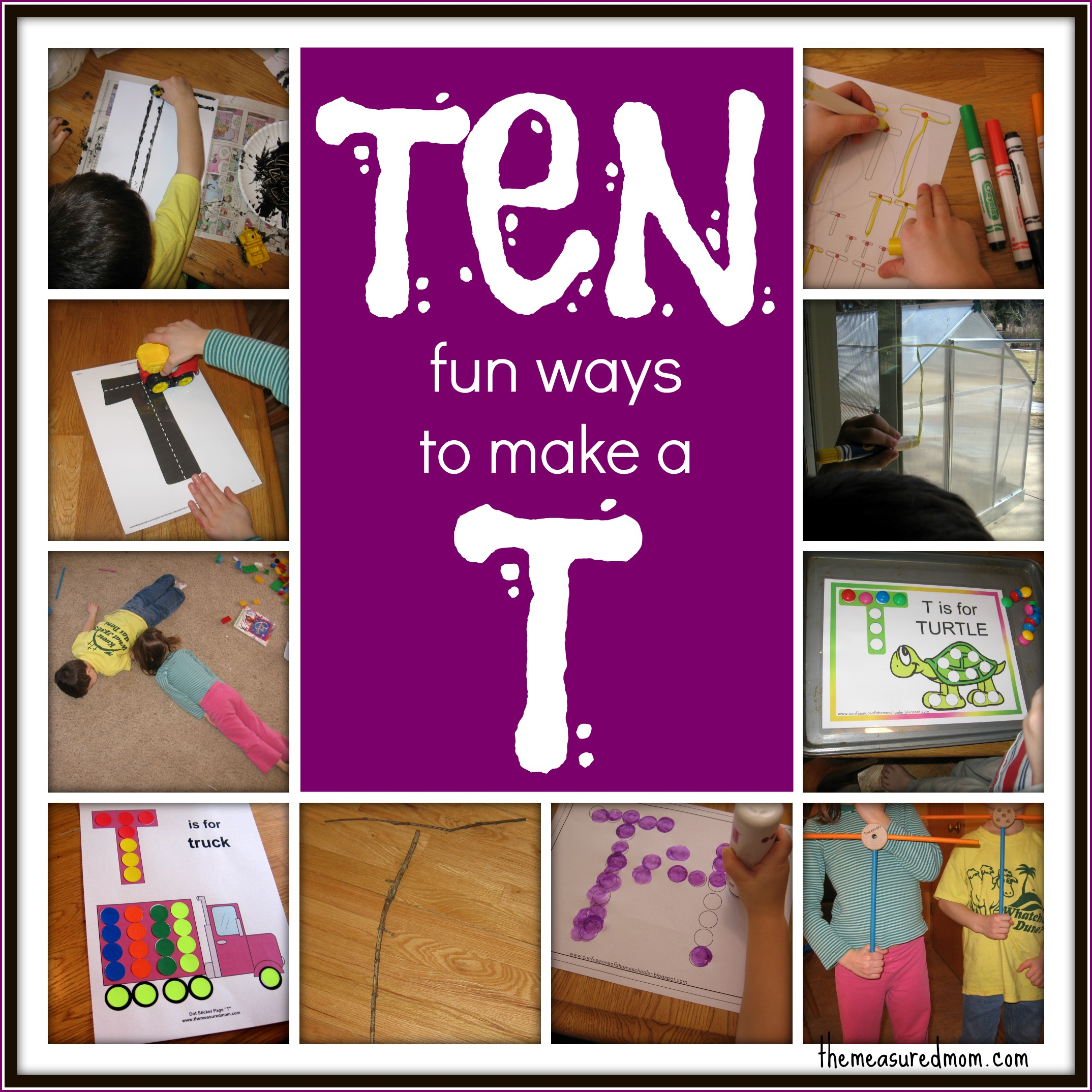 10 Ways To Write The Alphabet Letter T The Measured Mom