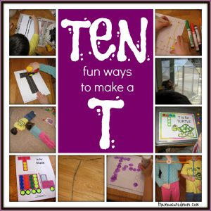 10 ways to write the alphabet: Letter T