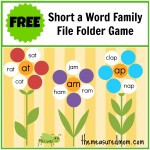 Free Short A Word Family File Folder Game 150x150 Free Printables