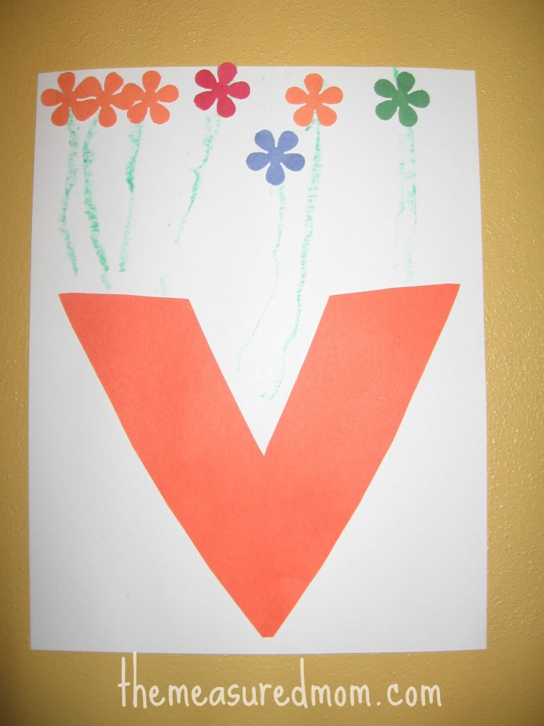 Letter V craft 5 the measured mom 768x1024 8 Crafts for Letter V