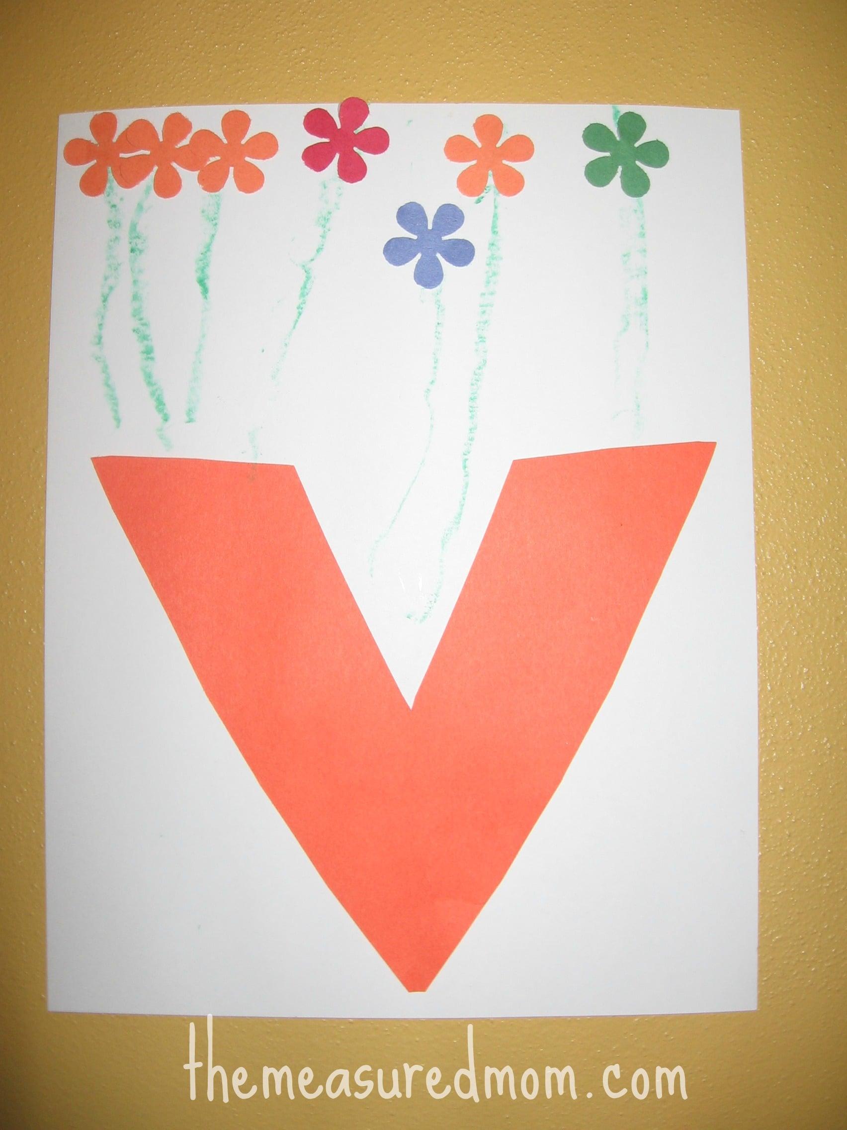 Letter V craft (5) - the measured mom